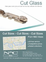 N&C Cut Glass Leaflet